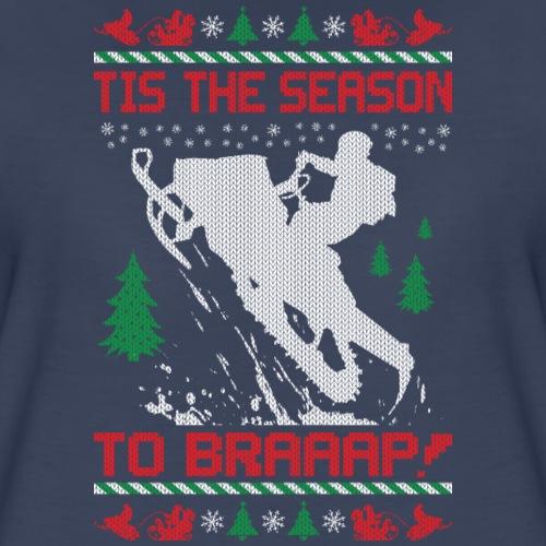 Snowmobile Christmas Ride - Women's Premium T-Shirt