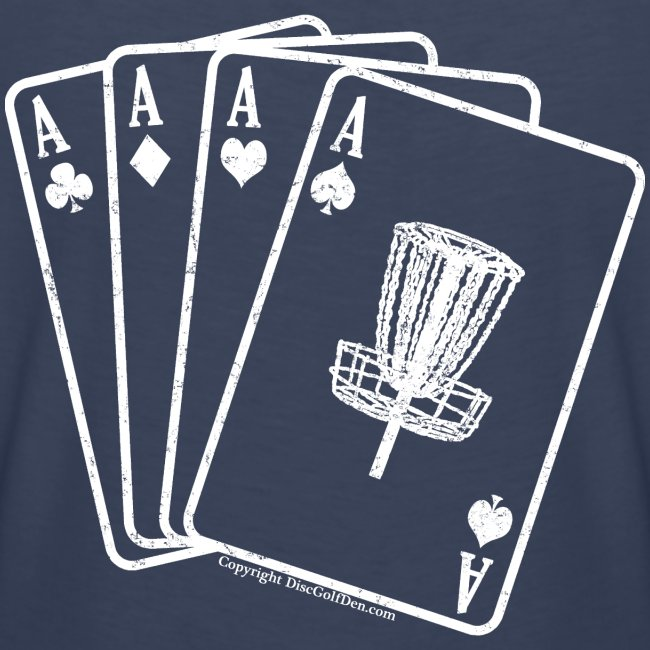 Disc Golf Aces Playing Cards White Print