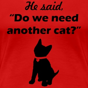 he said cat collar - Women's Premium T-Shirt