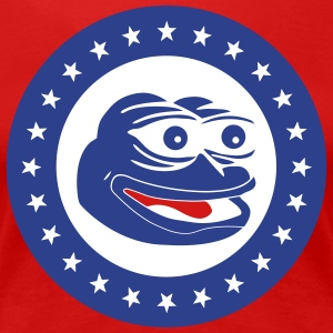 Pepe the Frog America Badge - Women's Premium T-Shirt