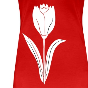 tulip white - Women's Premium T-Shirt