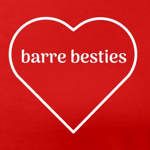 Barre Besties Heart Love - Women's Premium T-Shirt