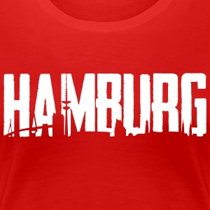 Hamburg City - Skyline - Women's Premium T-Shirt