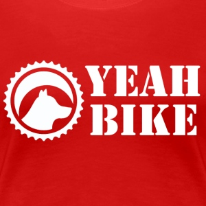 yeah bike white - Women's Premium T-Shirt
