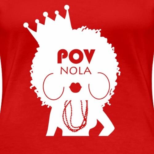 POV NOLA White - Women's Premium T-Shirt