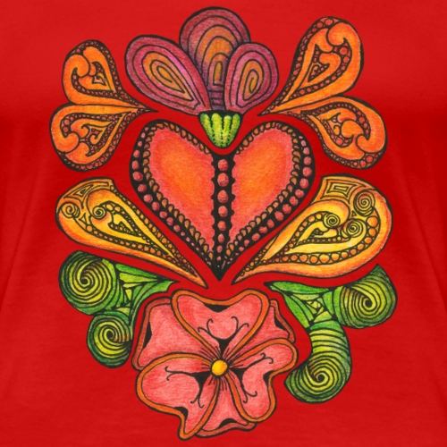 Hearts'n'Flowers reduced - Women's Premium T-Shirt
