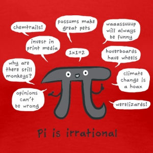 Irrational Pi - Women's Premium T-Shirt