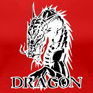 agry_looking_dragon_black - Women's Premium T-Shirt