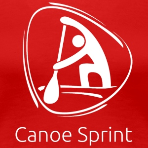 Canoe_sprint_white - Women's Premium T-Shirt