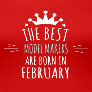 Best MODEL_MAKERS are born in february - Women's Premium T-Shirt