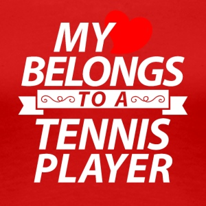 My heart belongs to a Tennis player - Women's Premium T-Shirt