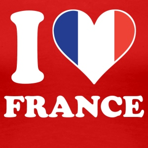 I Love France French Flag Heart - Women's Premium T-Shirt