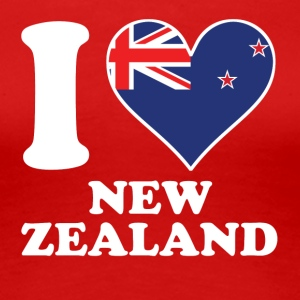 I Love New Zealand Kiwi Flag Heart - Women's Premium T-Shirt