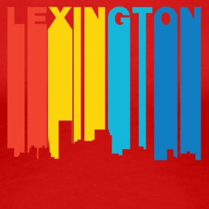 Retro 1970's Style Lexington Kentucky Skyline - Women's Premium T-Shirt