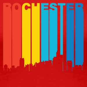 Retro 1970's Style Rochester Michigan Skyline - Women's Premium T-Shirt