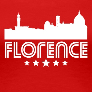 Retro Florence Skyline - Women's Premium T-Shirt