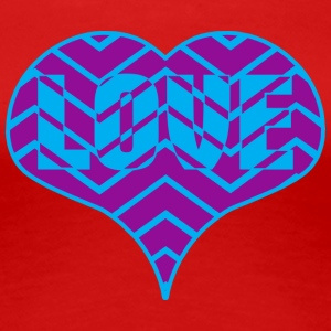CHEVRON LOVE HEART - Women's Premium T-Shirt