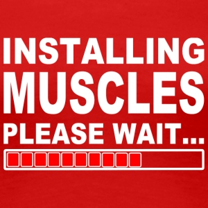 Installing muscles please wait - Women's Premium T-Shirt