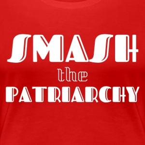 Smash the Patriarchy white text - Women's Premium T-Shirt