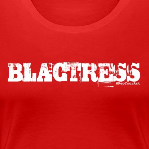Blactress Tee (White) - Women's Premium T-Shirt