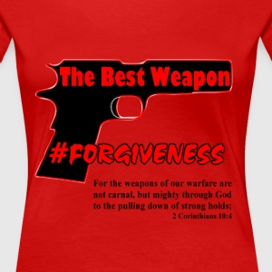 Forgiveness Black & Red - Women's Premium T-Shirt
