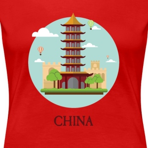 China Peoples Republic PRC Tourist Souvenir - Women's Premium T-Shirt