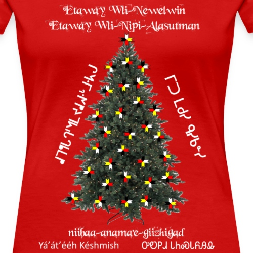 Merry Christmas Indigenous Style - Women's Premium T-Shirt