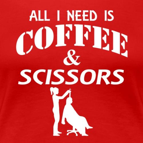 04 coffee and scissors copy - Women's Premium T-Shirt