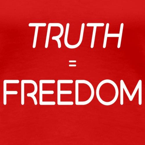 truthisfreedom wht trsp - Women's Premium T-Shirt