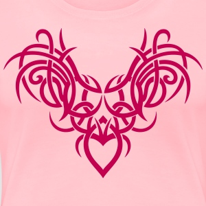 Tribal ornament with wings and heart. - Women's Premium T-Shirt