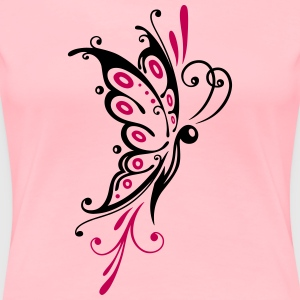 Big filigree butterfly, wings, girlie Tattoo style - Women's Premium T-Shirt