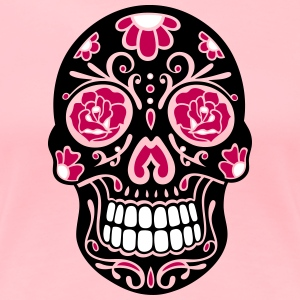 Traditional Mexican sugar skull, day of the dead. - Women's Premium T-Shirt