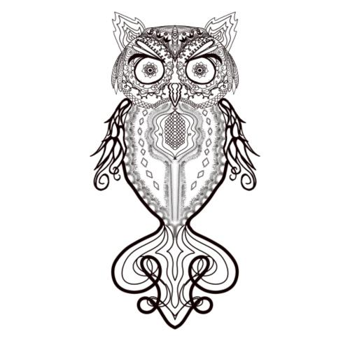 Zentangle Lace Owl - Women's Premium T-Shirt