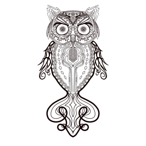 Zentangle Lace Owl - Women's Premium T-Shirt