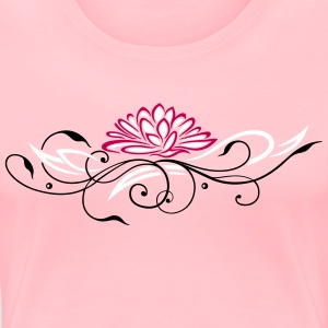 Large lotus flower with filigree ornament - Women's Premium T-Shirt