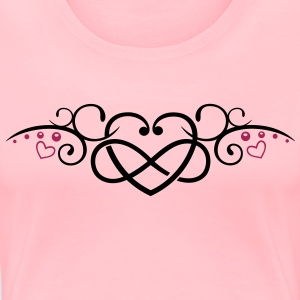 Heart with infinity, Tribal & tattoo style. - Women's Premium T-Shirt