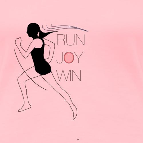 RUN JOY WIN - Women's Premium T-Shirt
