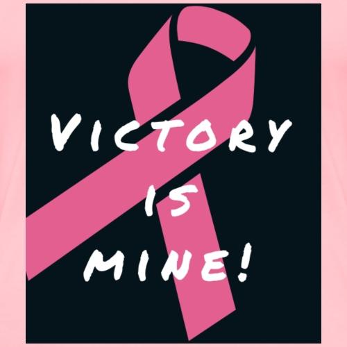 Victory is Mine! - pink ribbon - Women's Premium T-Shirt