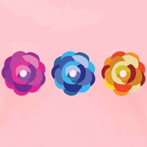 Mexican Flowers - Women's Premium T-Shirt