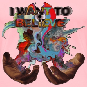 I WANT TO BELIEVE MAGIC SMOKE IN HANDS W/ MELT CD - Women's Premium T-Shirt