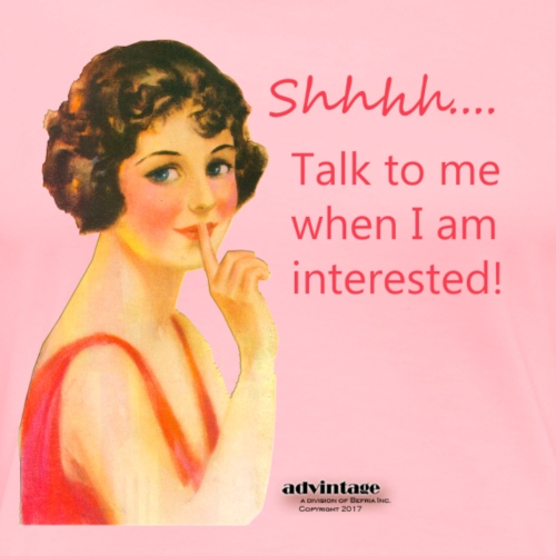Red Lady Series Talk when I am interested! - Women's Premium T-Shirt