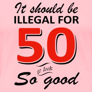 Funny 50th year old birthday designs - Women's Premium T-Shirt