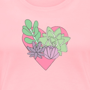 Succulent Heart - Women's Premium T-Shirt