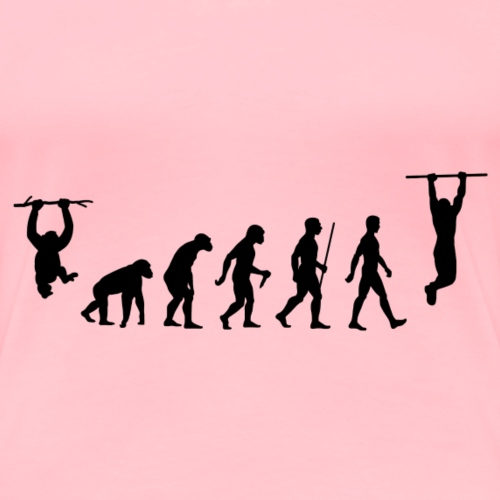 Evolution of Calisthenics - Women's Premium T-Shirt