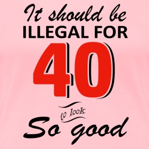 Funny 40th year old birthday designs - Women's Premium T-Shirt