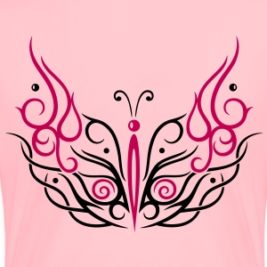 Big filigree butterfly, Tribal and Tattoo style. - Women's Premium T-Shirt
