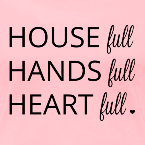 House, Hands & Heart Full in Black