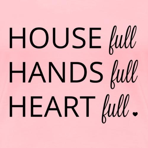 House, Hands & Heart Full in Black