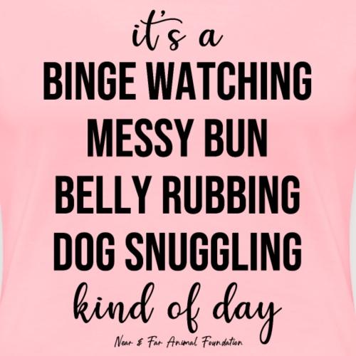 binge bun belly dog - Women's Premium T-Shirt