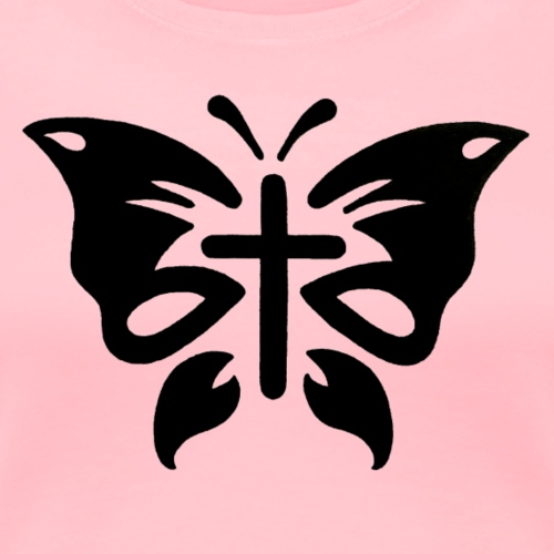 Cross Butterfly - Women's Premium T-Shirt